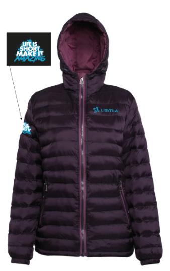 Ladies Padded Jacket Aubergine